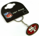 San Francisco 49ers NFL metal / enamel keyring. Official licensed product (bb)
